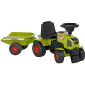 Falk Tractor Met Trailer Groen
