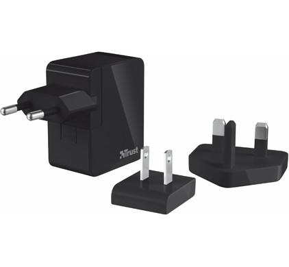 Trust Reislader 2x USB Zwart