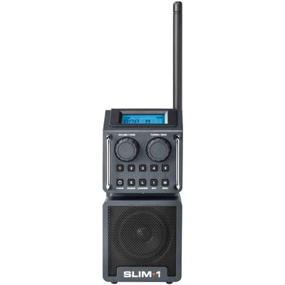 Image of FM Bouwradio PerfectPro Slim1 AUX, FM Stofvast, Spatwaterbestendig, Stofdicht Zwart
