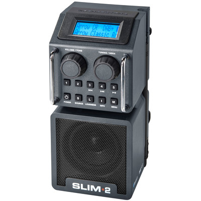 Image of DAB+ Bouwradio PerfectPro Slim 2 AUX, Bluetooth, DAB+, FM Stofvast, Spatwaterbestendig, Stofdicht Zwart