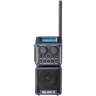 Image of DAB+ Bouwradio PerfectPro AUX, Bluetooth, DAB+, SD, FM, USB Stofvast, Spatwaterbestendig, Stofdicht, Herlaadbaar Zwart