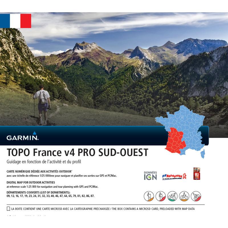 Garmin Topo Frankrijk Zuidwest V4 Pro Microsd