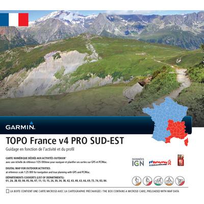 Garmin Topo Frankrijk Zuidoost V4 Pro DVD & microSD