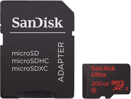 SanDisk MicroSDXC Ultra 200GB + SD Adapter