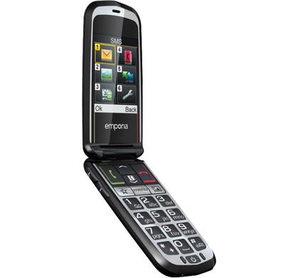 Emporia Glam senioren telefoon zwart