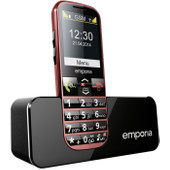 Emporia Eco senioren telefoon rood
