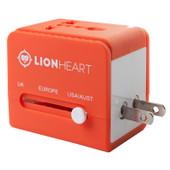 Lionheart Universele Wereldstekker Oranje