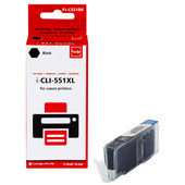 Huismerk Canon CLI-551XLBK Cartridge Zwart (Pixeljet - 6443B001)
