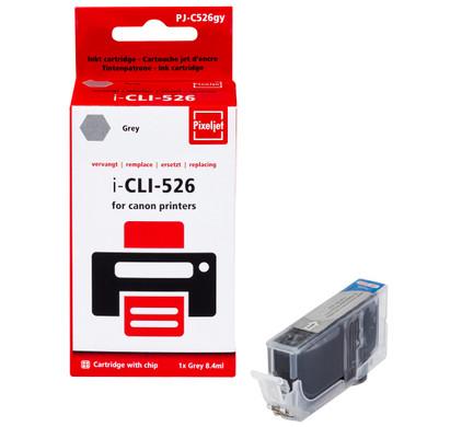 Huismerk Canon CLI-526GY Cartridge Grijs (Pixeljet - 4544B001)