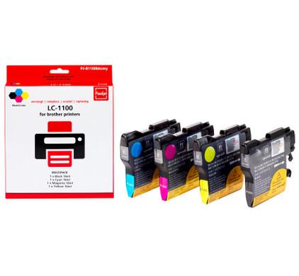 Huismerk Brother LC-1100XL 4-Kleuren Pack LC-1100HYVALBP