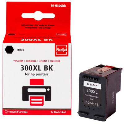 Pixeljet inktcartridge HP 300XL - zwart