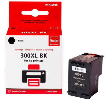 Huismerk HP 300 Cartridge Zwart XL (Pixeljet - CC641E)