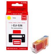 Huismerk Canon CLI-526Y Cartridge Geel (Pixeljet - 4543B001)