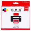 Pixeljet Canon CLI-551XL 4-Kleuren Pack (6509B009)
