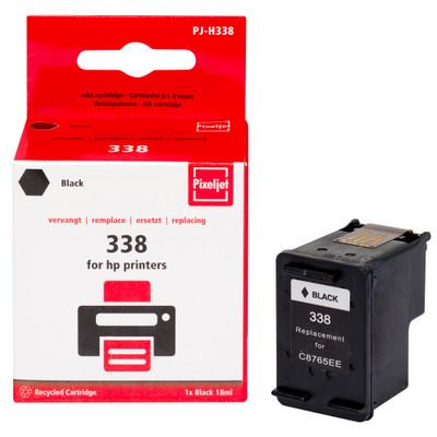 Pixeljet inktcartridge HP 338 - zwart