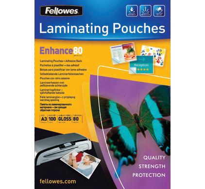 Fellowes Lamineerhoezen Zelfklevend 80 mic A3 (100 Stuks)
