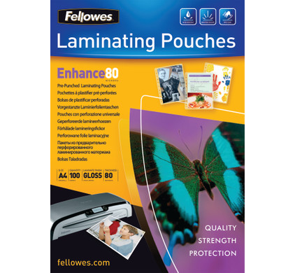 Fellowes Lamineerhoezen Ringband 80 mic A4 (100 Stuks)