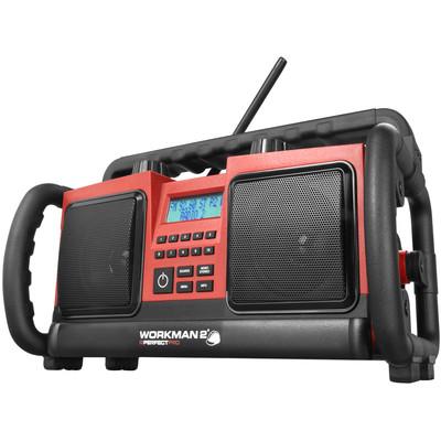 Image of FM Bouwradio PerfectPro Workman bouwplaatsradio AUX, FM Spatwaterbestendig, Stofdicht, Stofvast Rood, Zwart