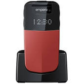 Emporia Glam senioren telefoon rood