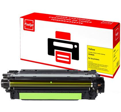 Huismerk HP 507A Toner Geel (Pixeljet - CE402A)