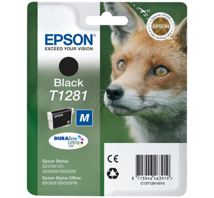 Epson T1281 Ink Cartridge Black (Zwart) C13T12814011