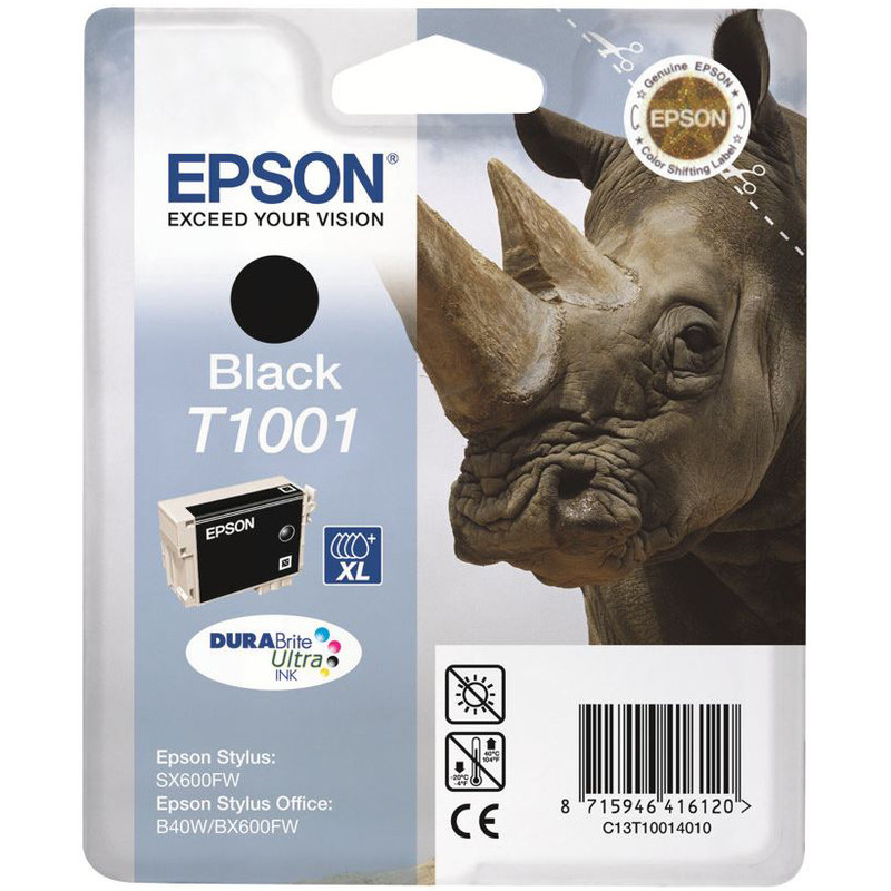 Epson T1001 Black Ink Cartridge (zwart) C13t10014010