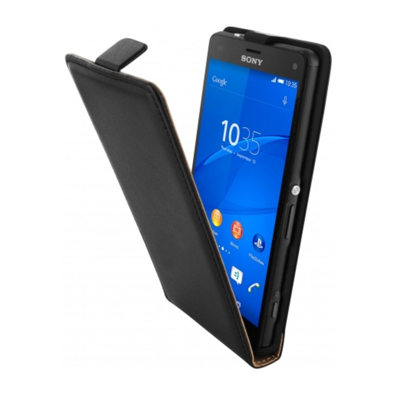 Mobiparts Essential Flip Case Sony Xperia Z3 Compact Zwart
