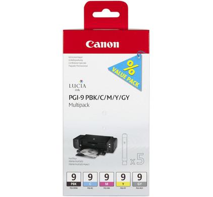 Canon PGI-9 Multi-Pack 1 (PBK/C/M/Y/GY) (1034B013)