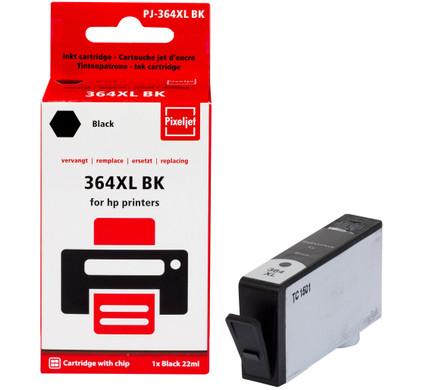 Huismerk HP 364 Cartridge Zwart XL (Pixeljet - CN684EE)