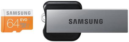 Samsung microSDXC Evo 64 GB +  USB 2.0 Reader
