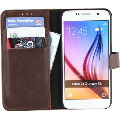 Xccess Leather Business Case Samsung Galaxy S6 Donkerbruin