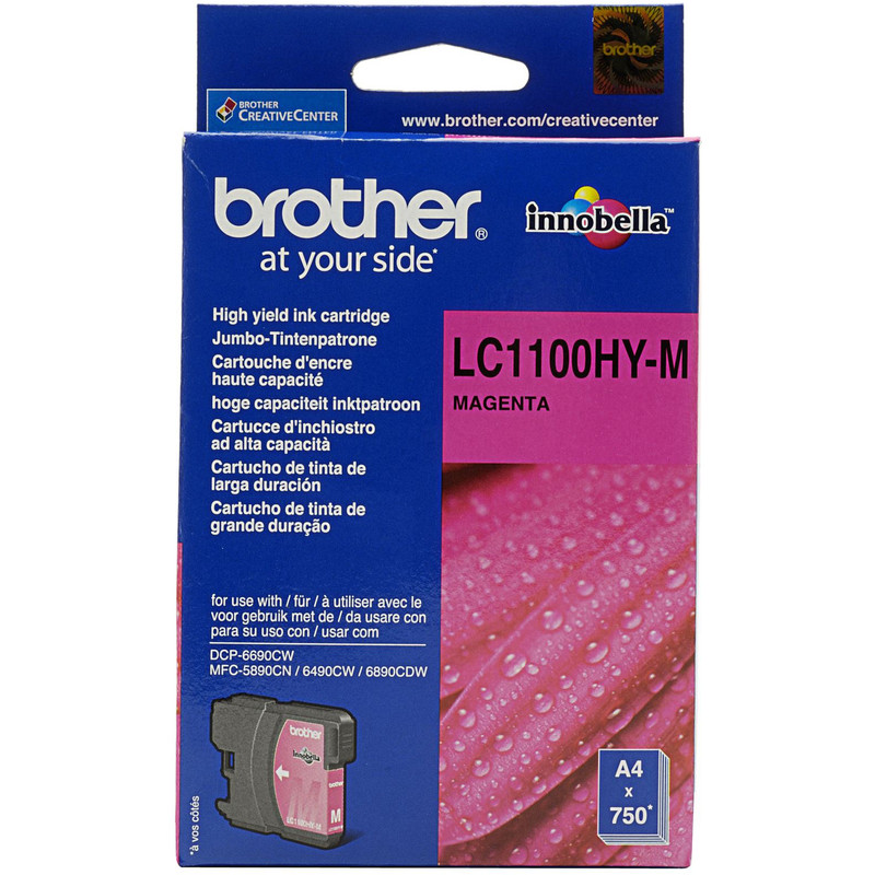 Brother Lc-1100hym Xl Magenta High Quality Ink (rood)