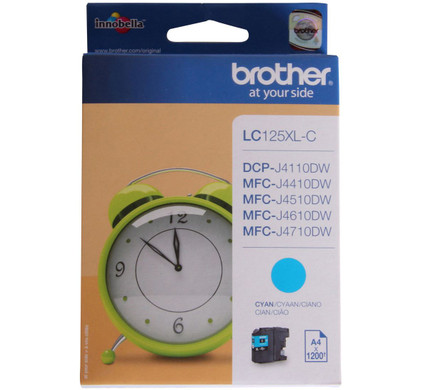 Brother LC-125XLC Cyan (blauw)