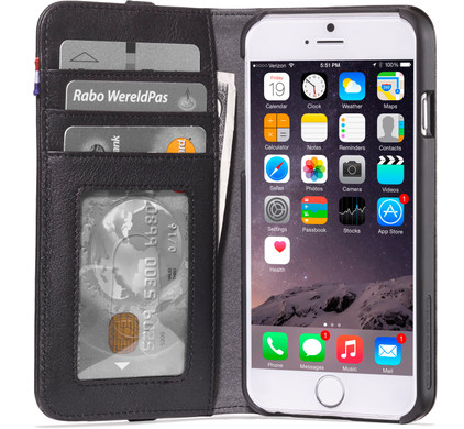 Decoded Leather Wallet Apple iPhone 6/6s/7 Zwart