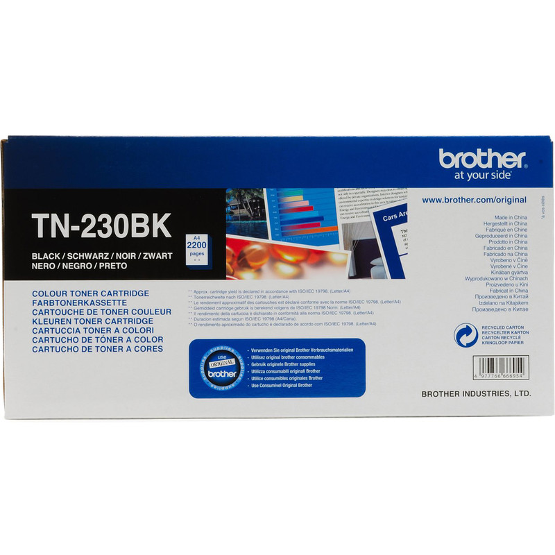 Brother Tn-230bk Toner Black (zwart)