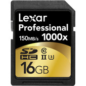 Lexar SDHC Pro 16GB 1000X UHS2