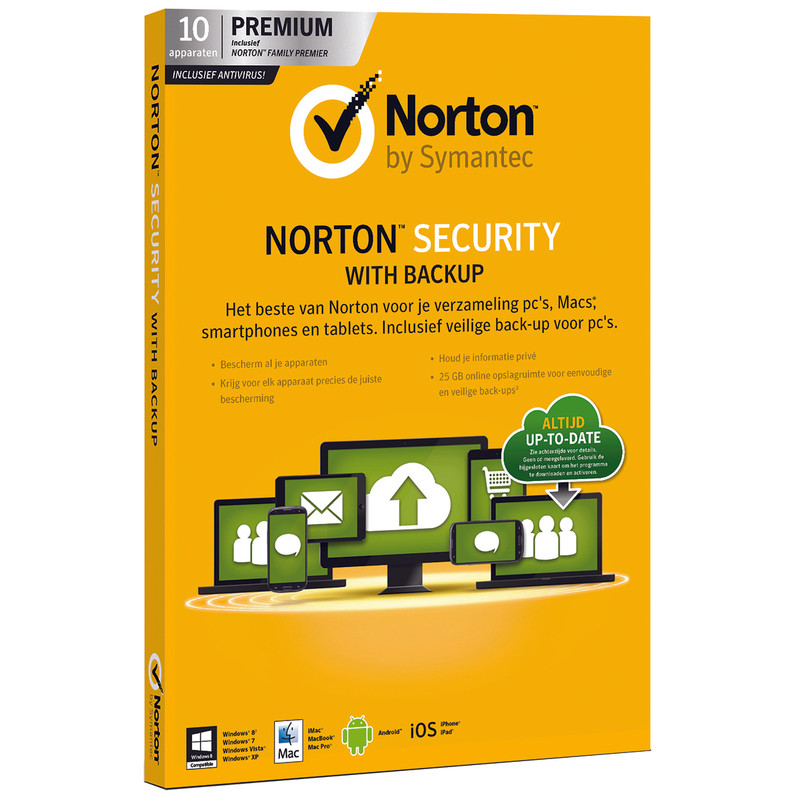 Norton Security Met Backup 2.0 25 Gb Nl