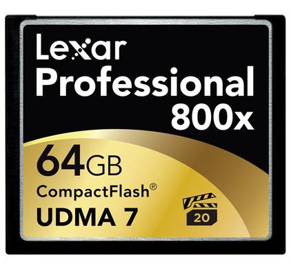 Lexar Professional UDMA CompactFlash kaart 64 GB