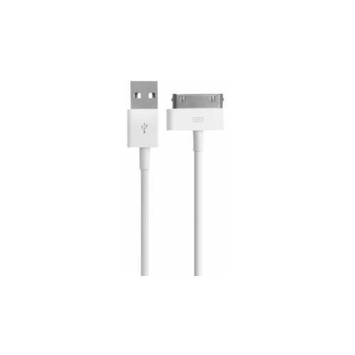 Mobiparts 30 Pin USB Kabel 1m Wit