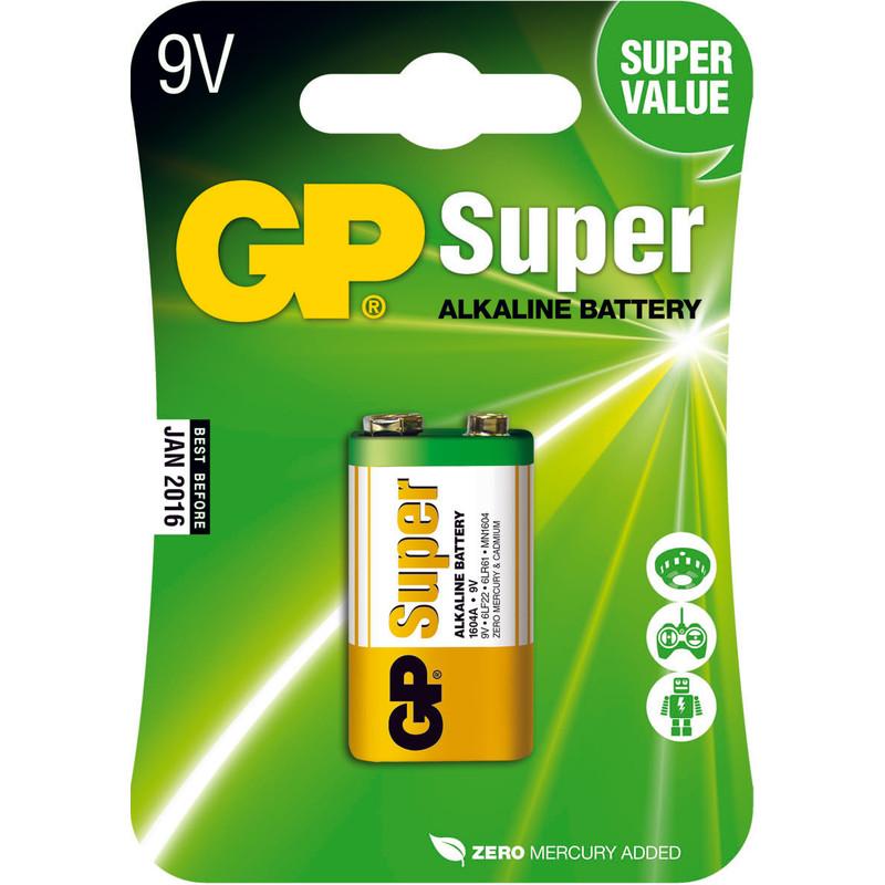 Gp Super Alkaline 9v Blok  Blister 1