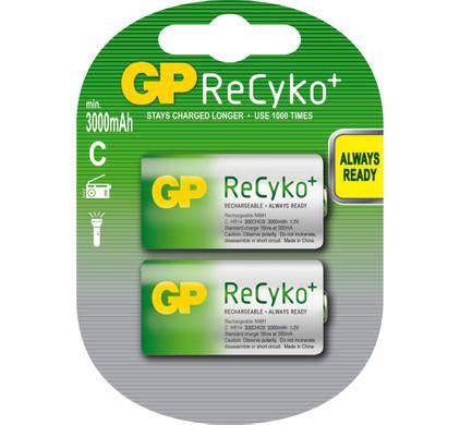 GP ReCyko+ oplaadbare C, Baby, blister 2
