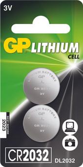 GP Lithium knoopcel CR2032, blister 2
