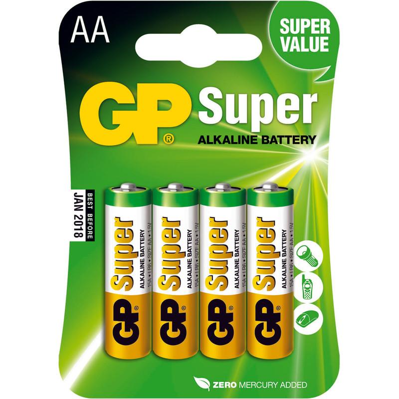 Gp Super Alkaline Aa Mignon Penlite  Blister 4