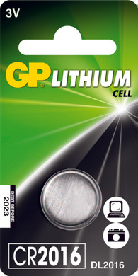 GP Lithium knoopcel CR2016, blister 1