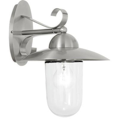 EGLO Milton - Buitenverlichting - Wandlamp - 1 Lichts - RVS - Helder