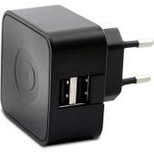 Muvit Duo USB Thuislader 2,1A Zwart