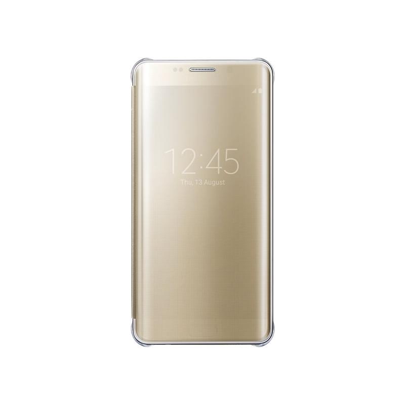 Samsung Galaxy S6 Edge Plus Clear View Cover Goud
