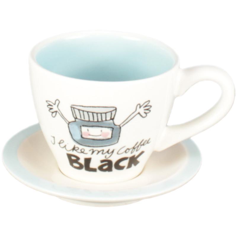 Blond Amsterdam Blondelicious Espressokop En Schotel Blauw