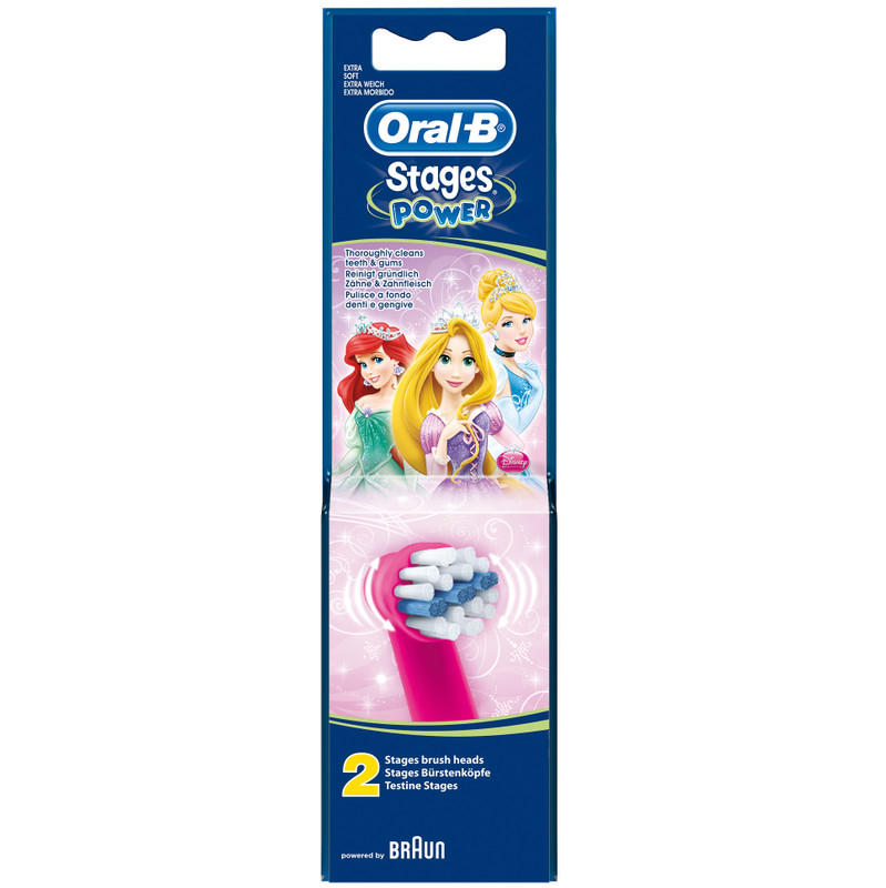 Oral-b Stages Power Kids Opzetborstels 2 Stuks