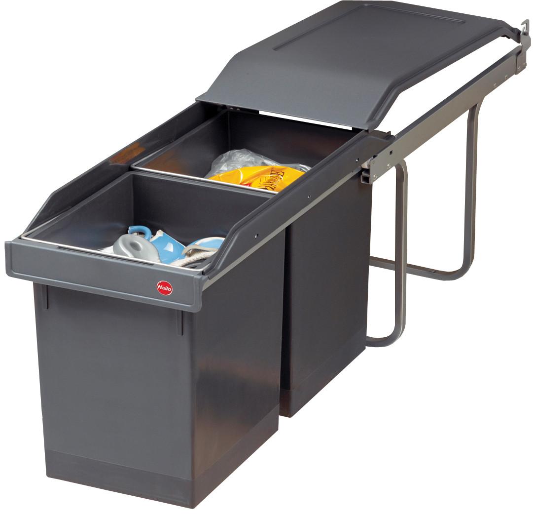 Afvalbak Keuken Inbouw : Hailo Tandem 15 + 15 Liter Grijs Vanaf ? 59.95 bij 2 winkels